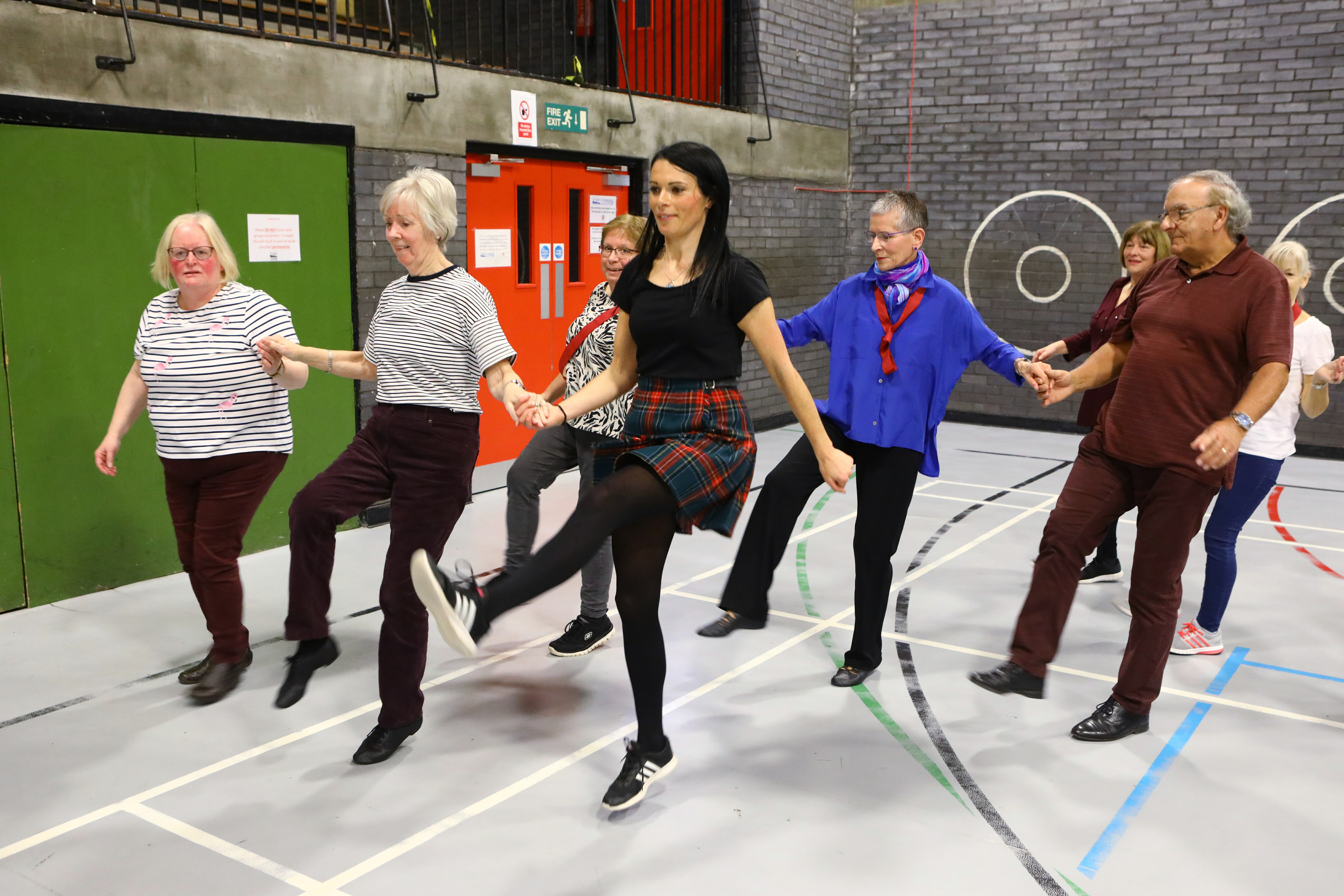 Gayle joins in with the U3A Scottish Country Dancing group at Dundee's Ardler Complex.