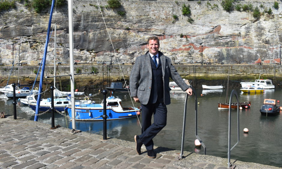 New Fife Coast and Countryside Trust chief executive Jeremy Harris at Dysart Harbour