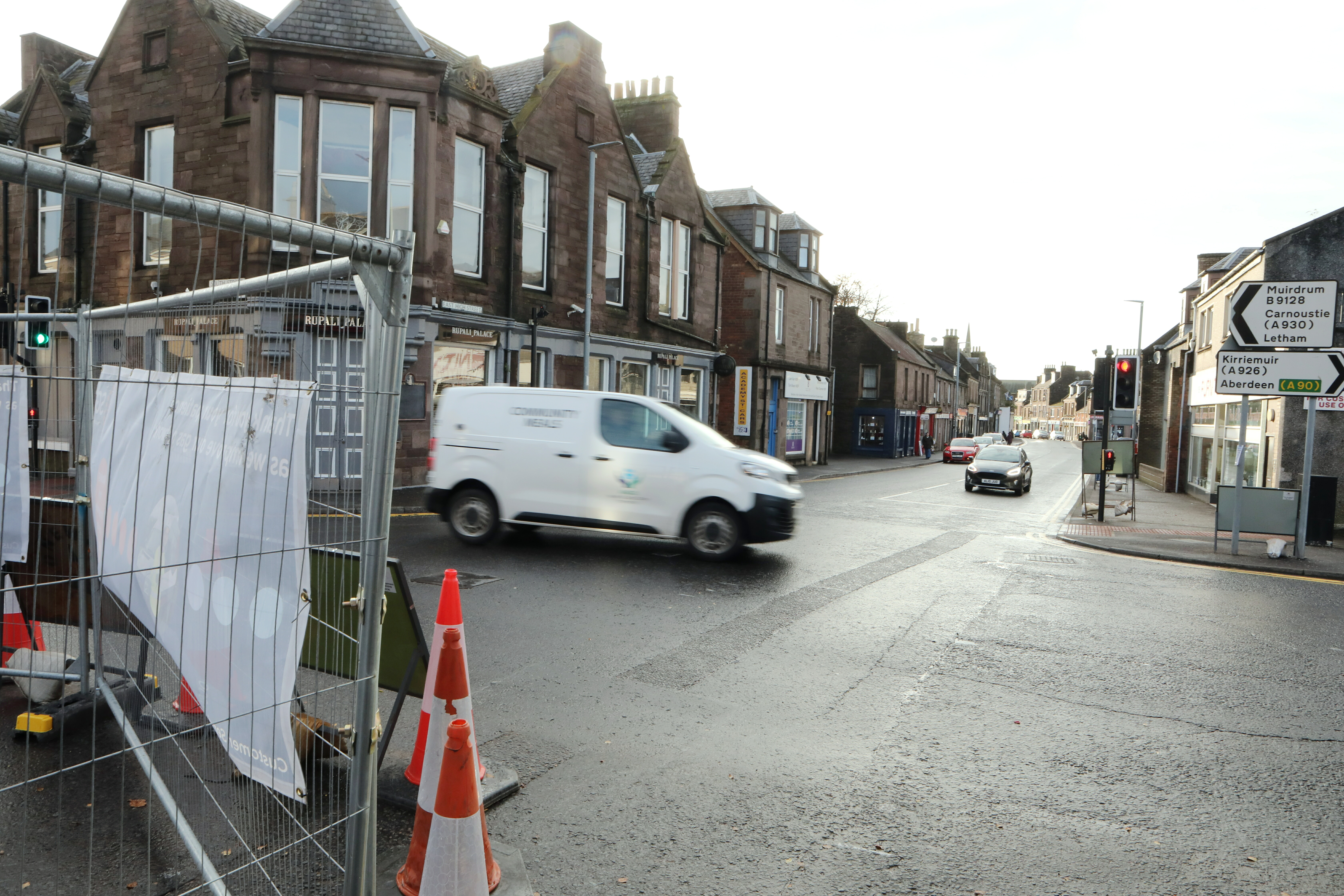 The works will move to the East High Street stretch leading to Forfar town centre.