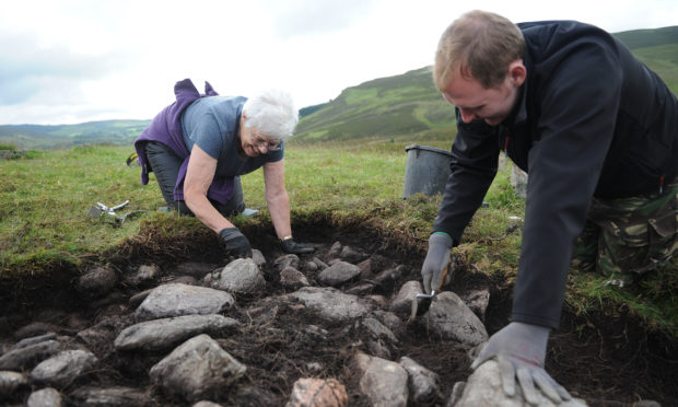 Work at the Lair, Glenshee in 2014
