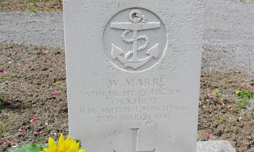 Walter Marr was laid to rest in a cemetery in the Netherlands.