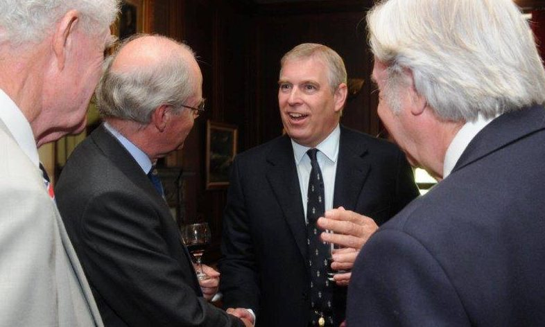 Prince Andrew during a visit to the Royal Perth Golfing Society in 2013