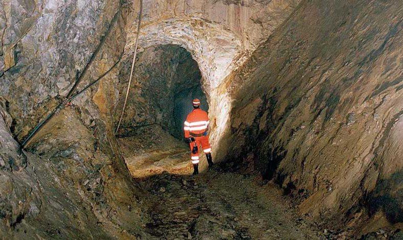 Inside Duntanlich mine.