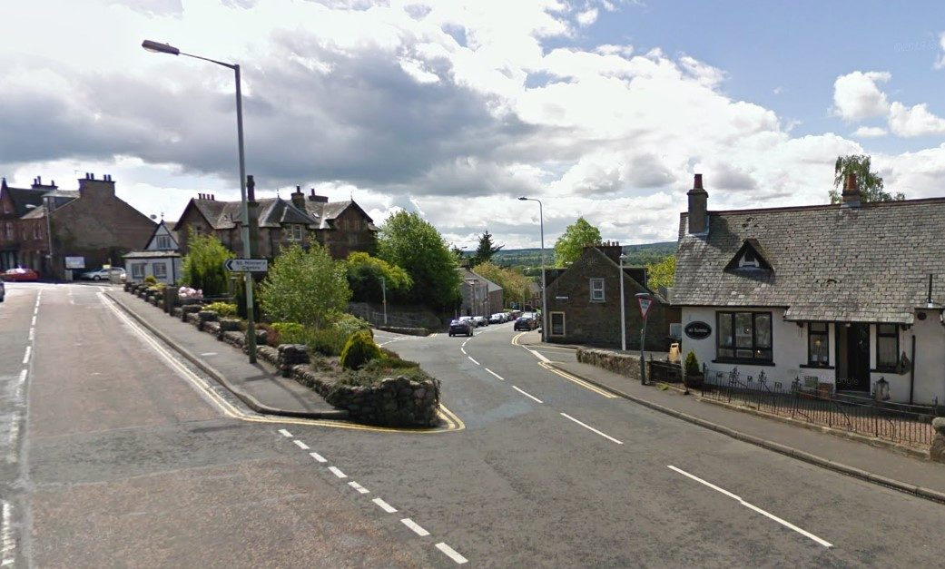 Junction of Perth Road and A822, Crieff.