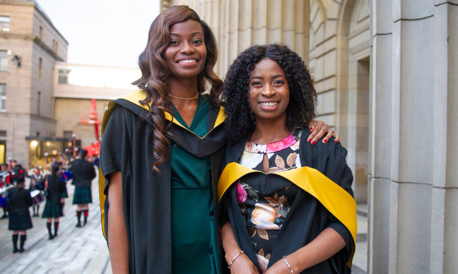 Oluwadamilola Ajiboye and Jennifer Amoh both graduated with an MSc Professional Accounting.