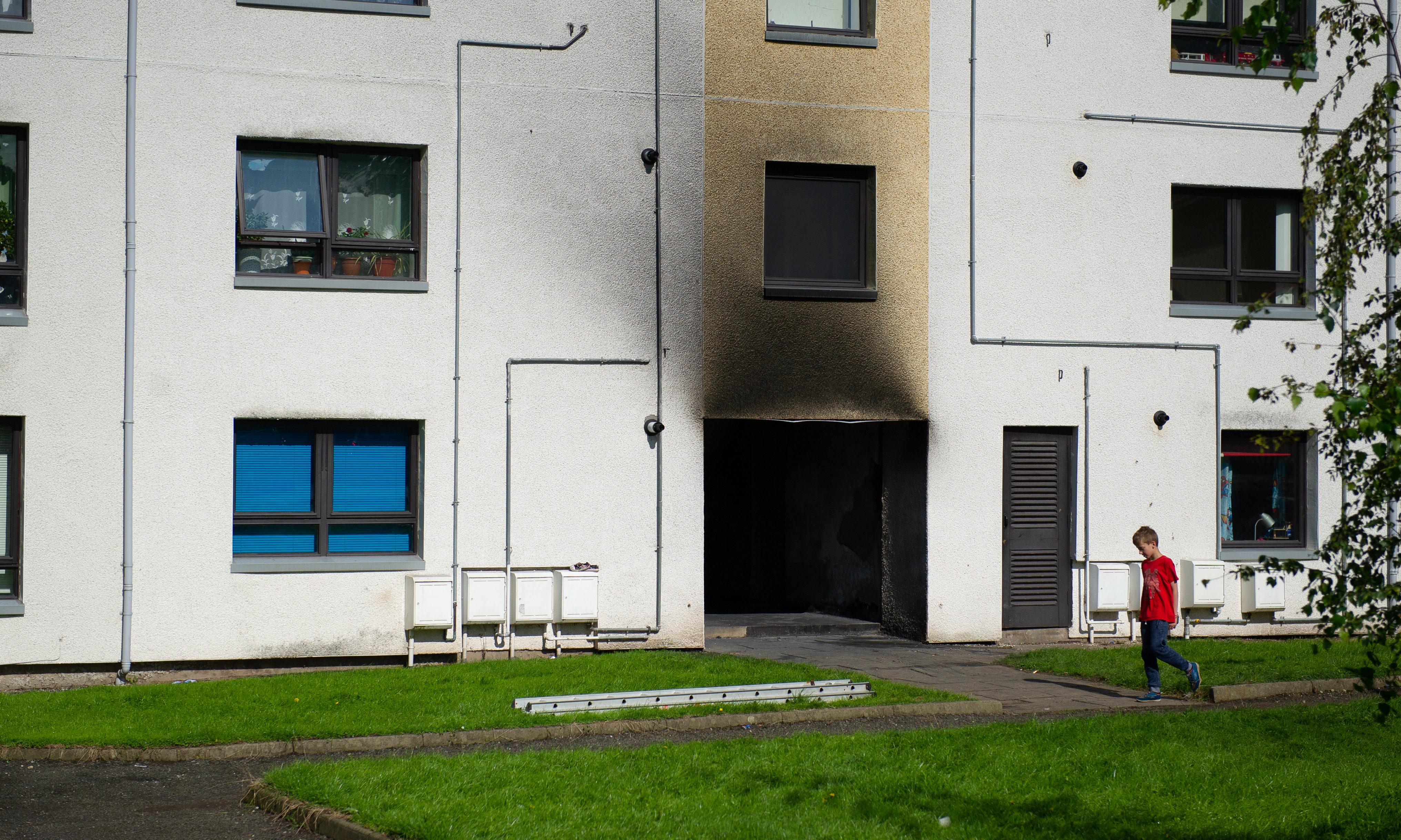 A house fire in Forfar Kim Cessford / DCT Media
