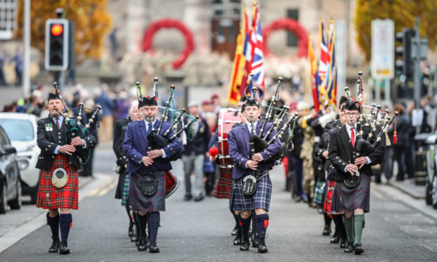 Remembrance Sunday in Dundee in 2019.
