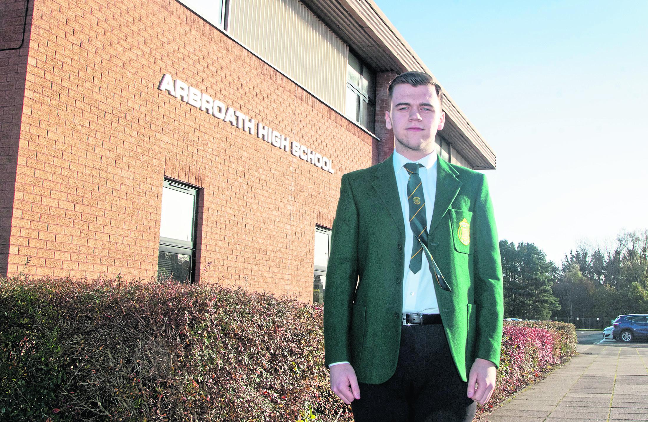 Owen Roberts at Arbroath High School.