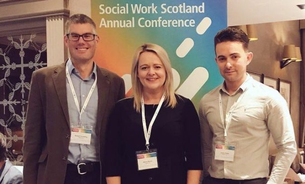 From left:  Richard Graveling, head of education, Alison Moore, managing director, James Doyle head of commissioning and marketing.
