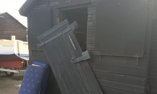 Sheds at Pettycur Harbour were broken into on Thursday night.