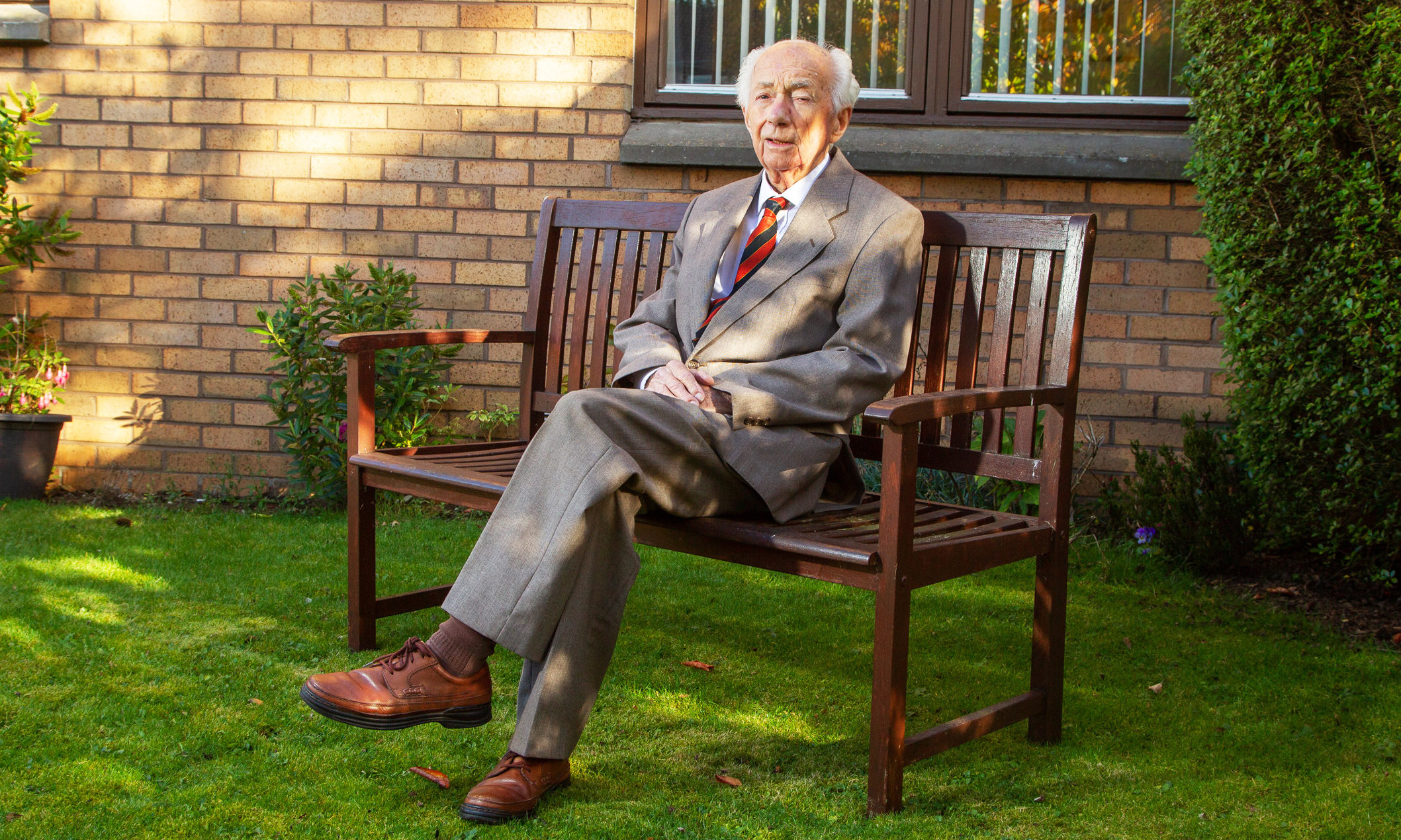 Ron Bruce at home in Monifieth
