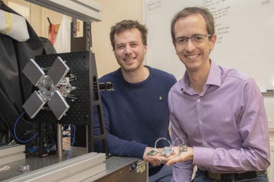 UK ATC's Noah Schwartz, left, and Tom Barraclough from Razorbill Instruments.