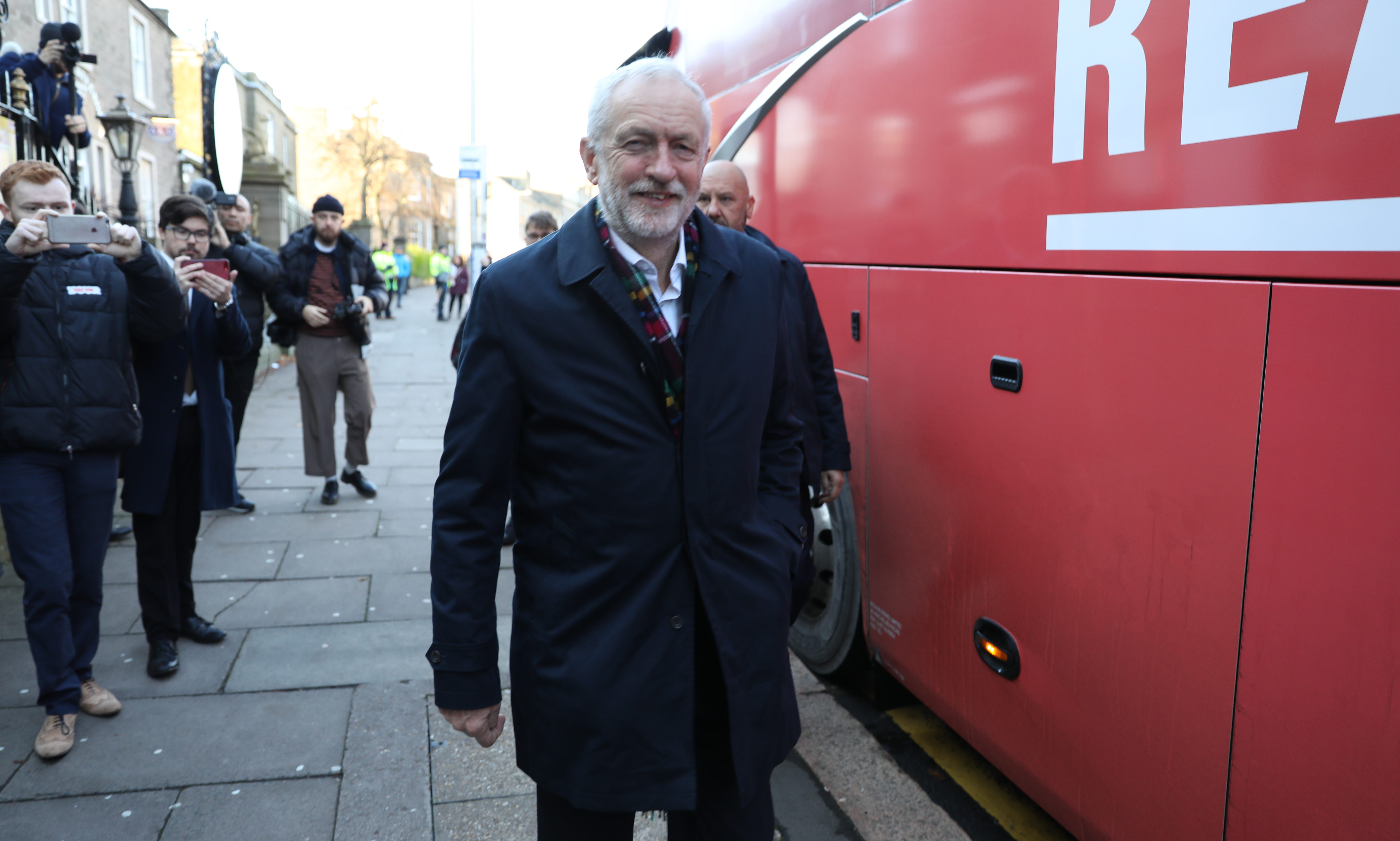 Labour Leader Jeremy Corbyn in Dundee.