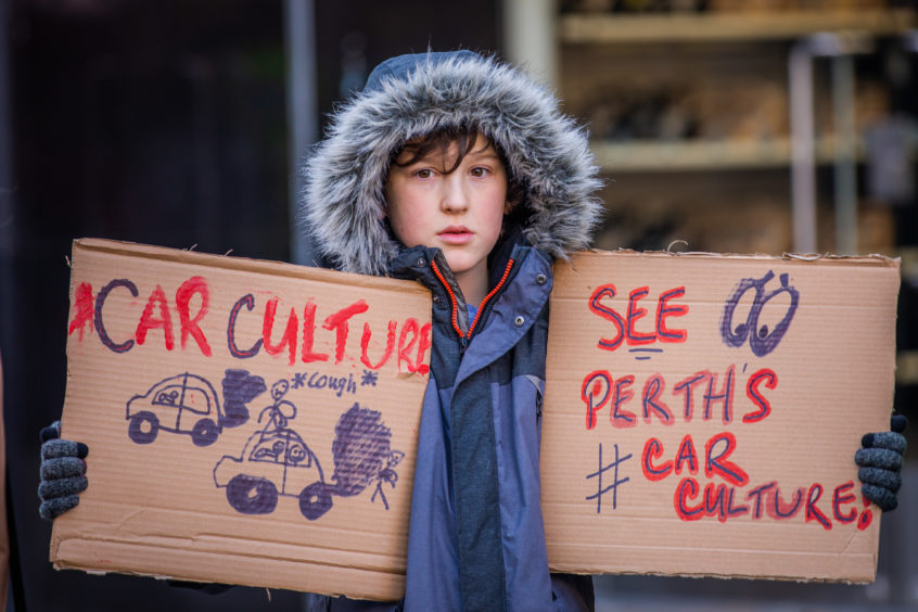 Henry Graham from Perth at the climate strike.