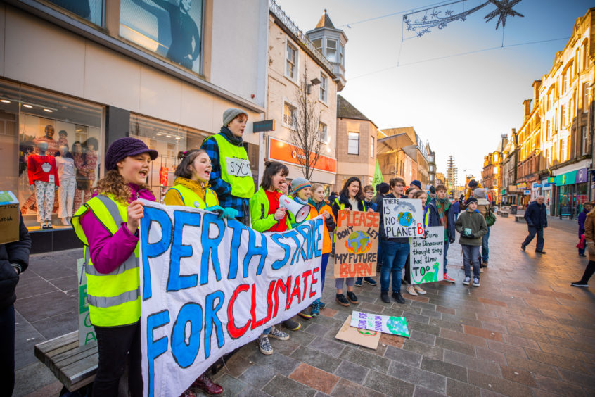 The Global Climate Strike in Perth city centre. Photos by Steve MacDougall.