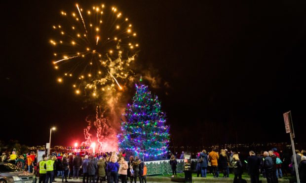 Dundee West End Christmas lights switch-on in 2019.