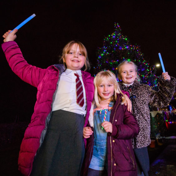 Kirsty Caddick (9), Katie Caddick (7) and Katie Gibson (9), all from Blackness Primary School.