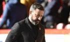 Aberdeen manager Derek McInnes at Pittodrie.