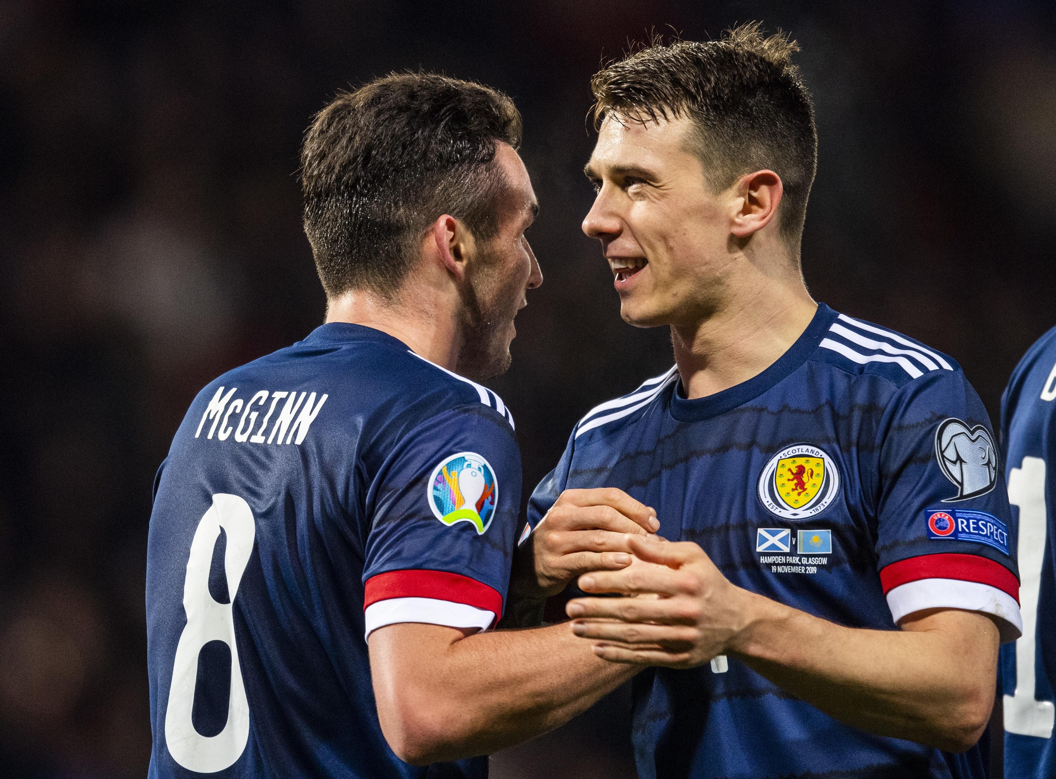 Ryan Jack (right) with John McGinn.