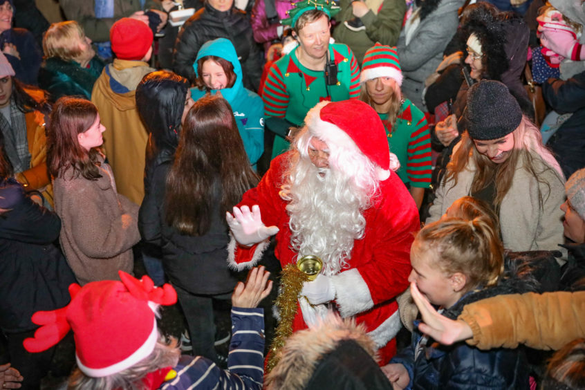 The Carnoustie lights switch-on.