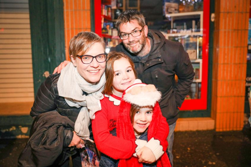 The Goodlad family from Carnoustie at the switch-on.