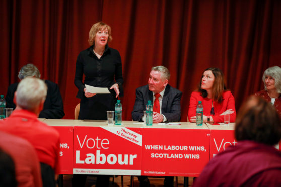 Lesley Laird addresses Labour activists at the Adam Smith Theatre in Kirkcaldy ahead of the General Election on 12th December 2019.