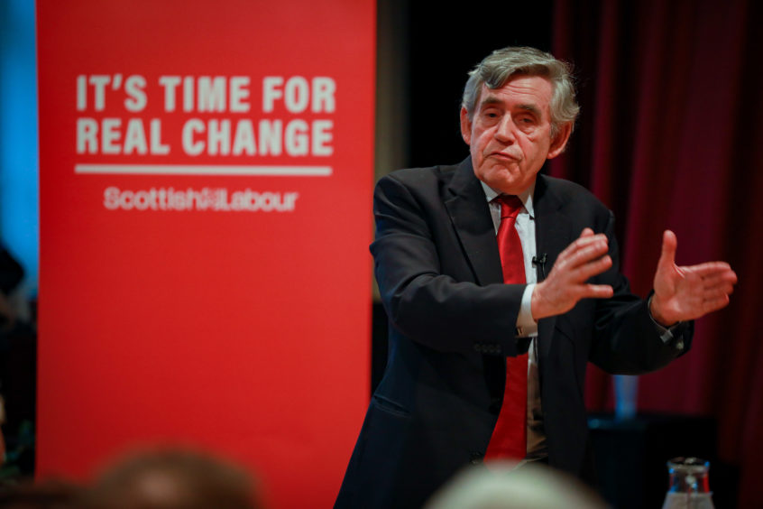 Gordon Brown was back in Kirkcaldy to support activists and the four Fife Labour candidates.