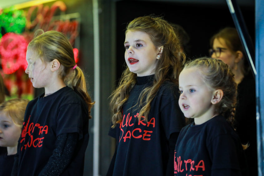 Ultra Dance performs for the crowd in Monifieth.