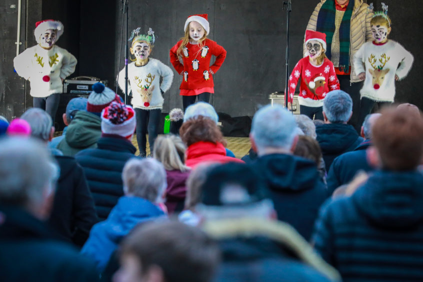 The Monifieth Christmas lights switch-on.