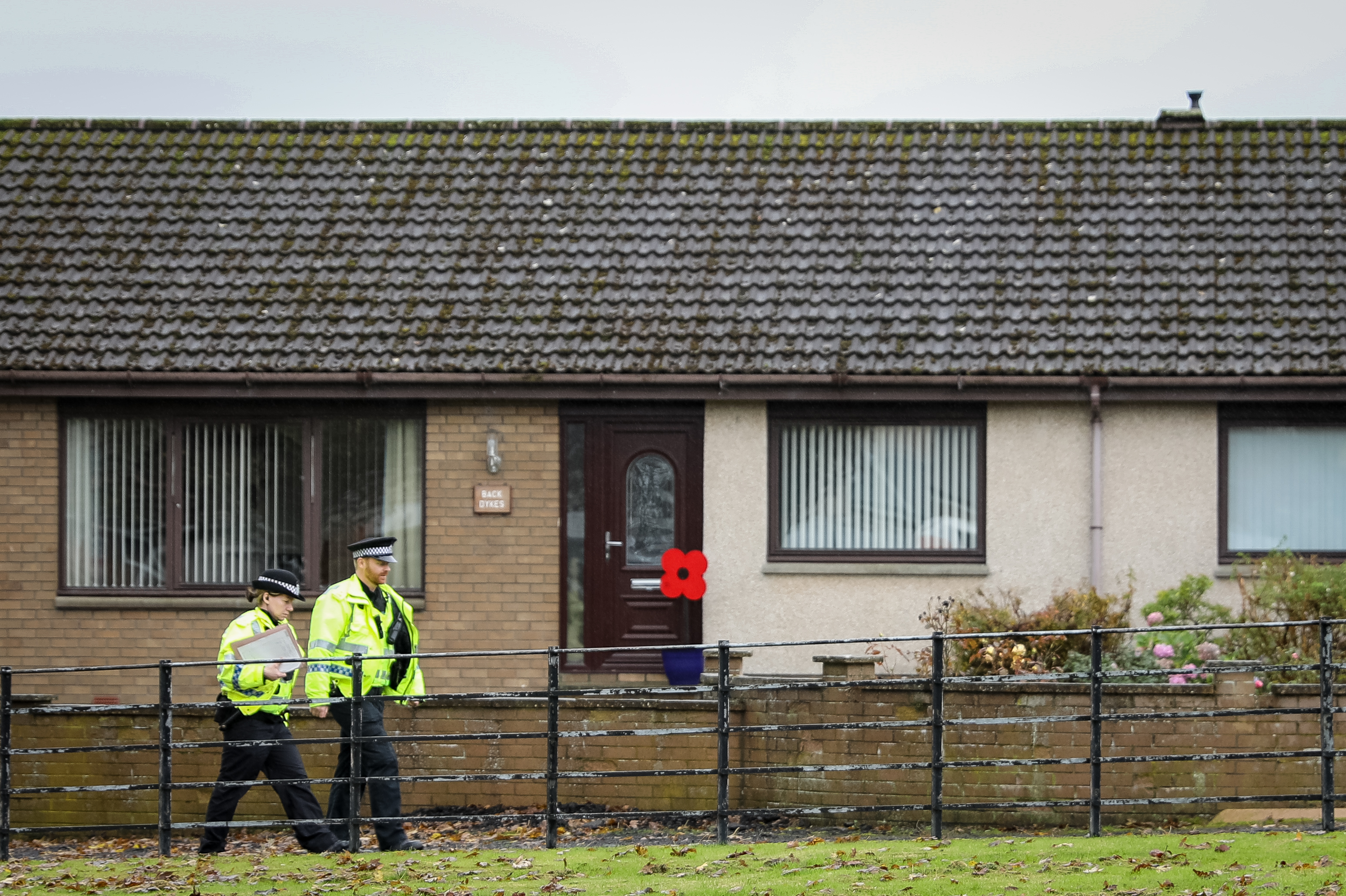 Police are continuing to investigate the death in Kinglassie