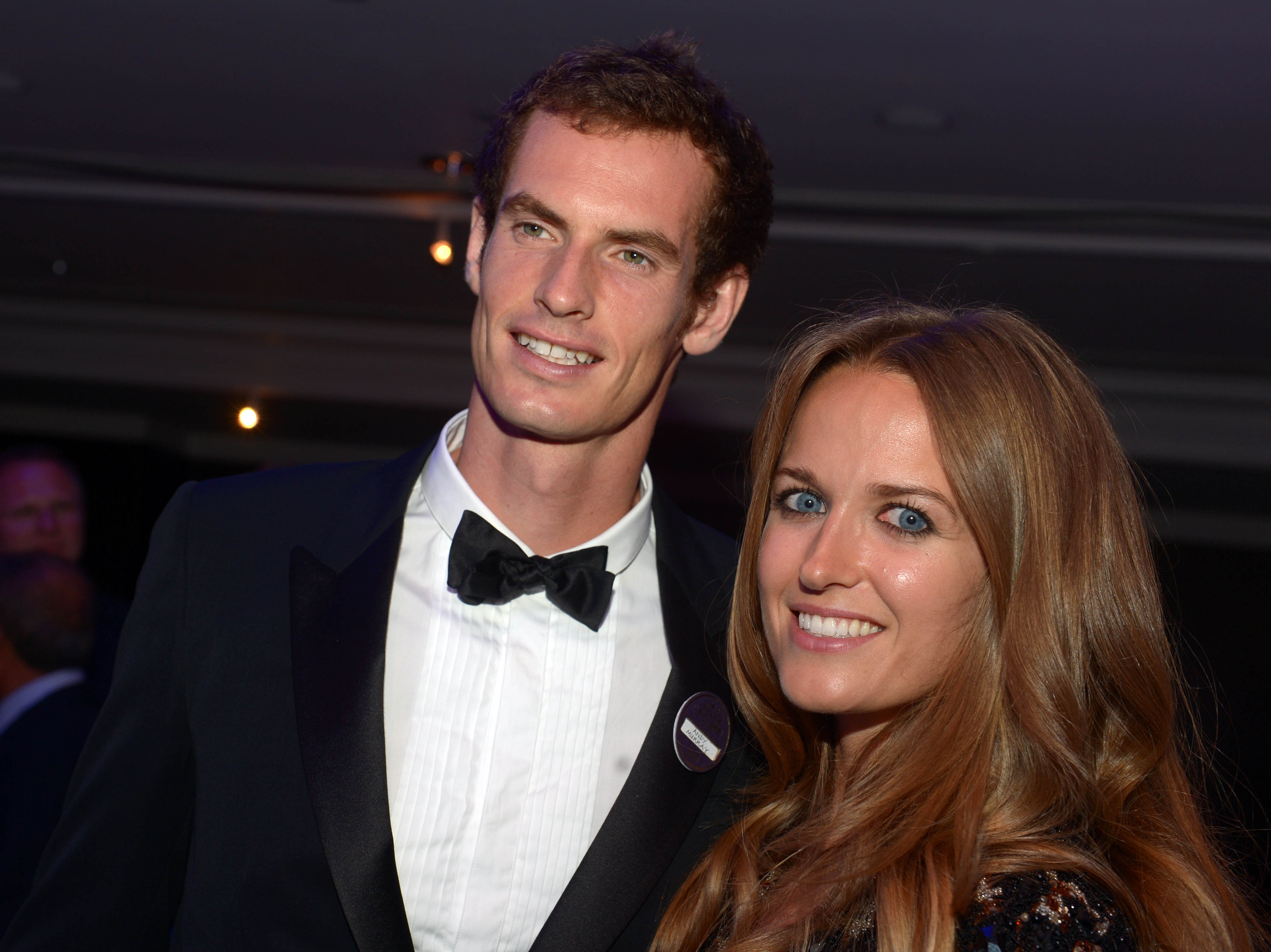 Sir Andy Murray with wife Kim.