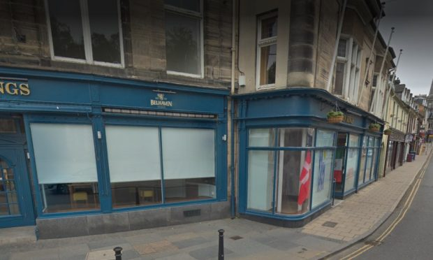 The incident happened outside the Seven Kings pub in Dunfermline.
