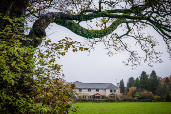 Mature trees surround the Windlestrae Hotel in Kinross