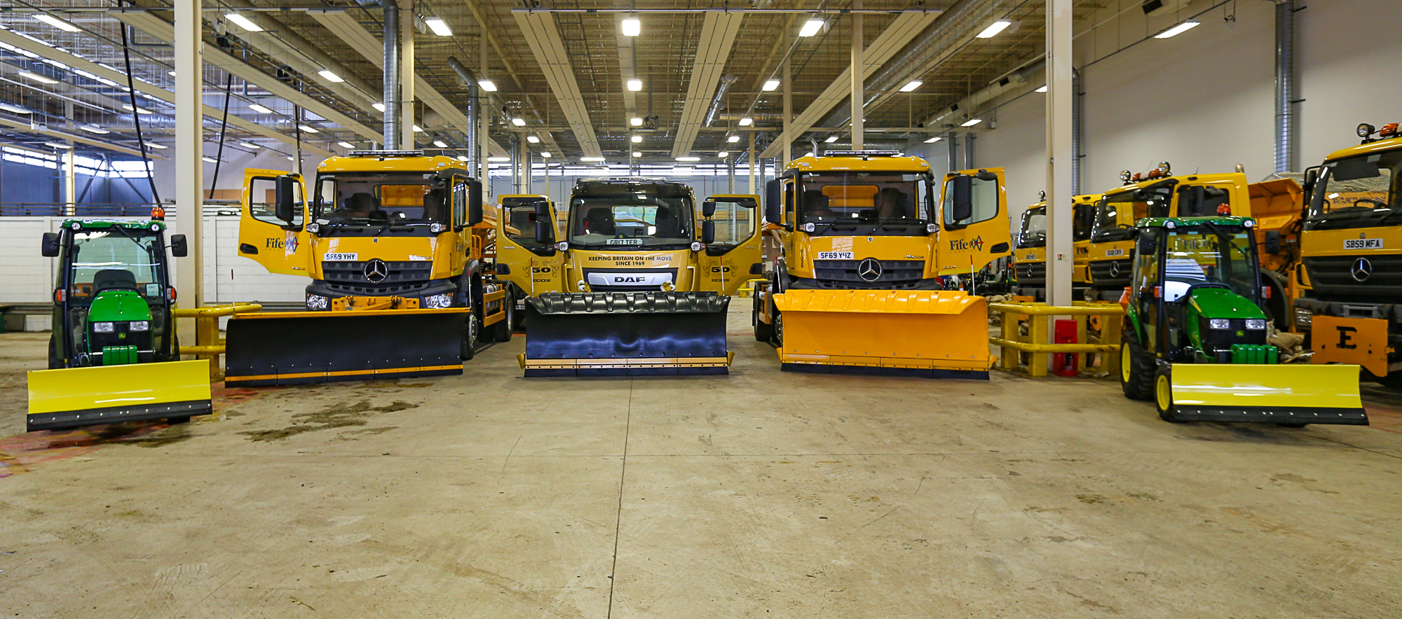 Some of the specialist vehicles which will be out and about on the region's roads.