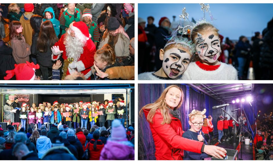 The 2019 Christmas lights switch-ons in Monifieth and Carnoustie.