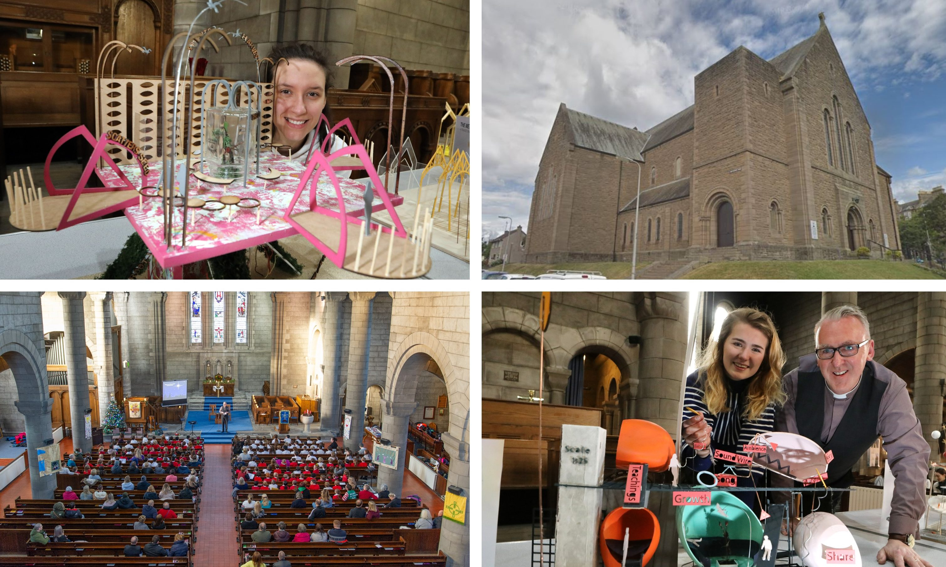 Students have unveiled their visions of a complete St John's Cross Parish Church building.