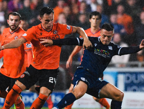 Action from the last Dundee derby.