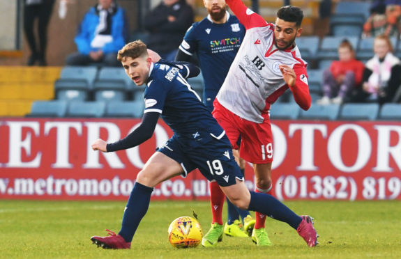 Finlay Robertson was back in the Dundee starting line-up.