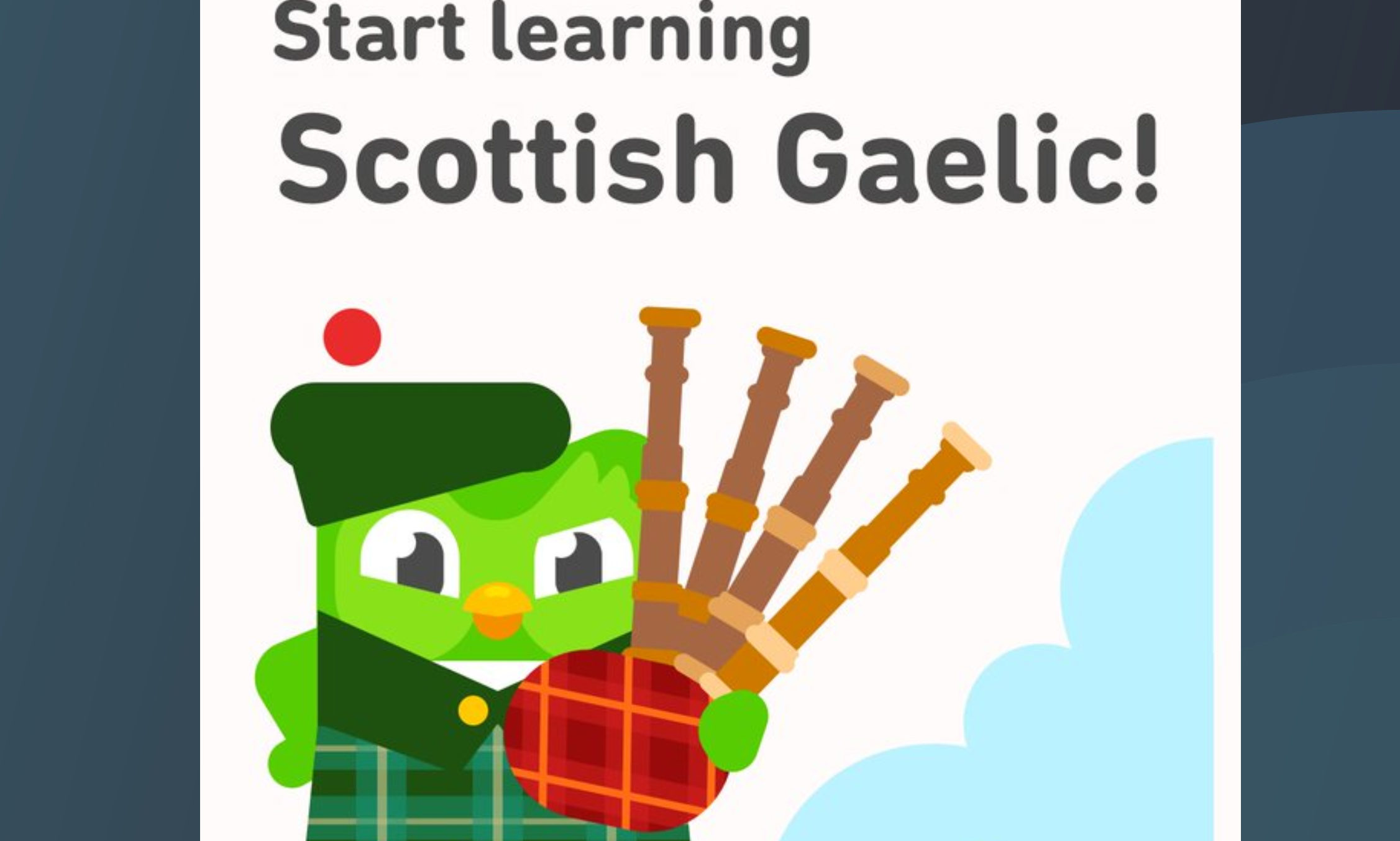 The Duolingo Scots Gaelic course has been launched.