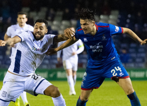 Kane Hemmings in action at Inverness.