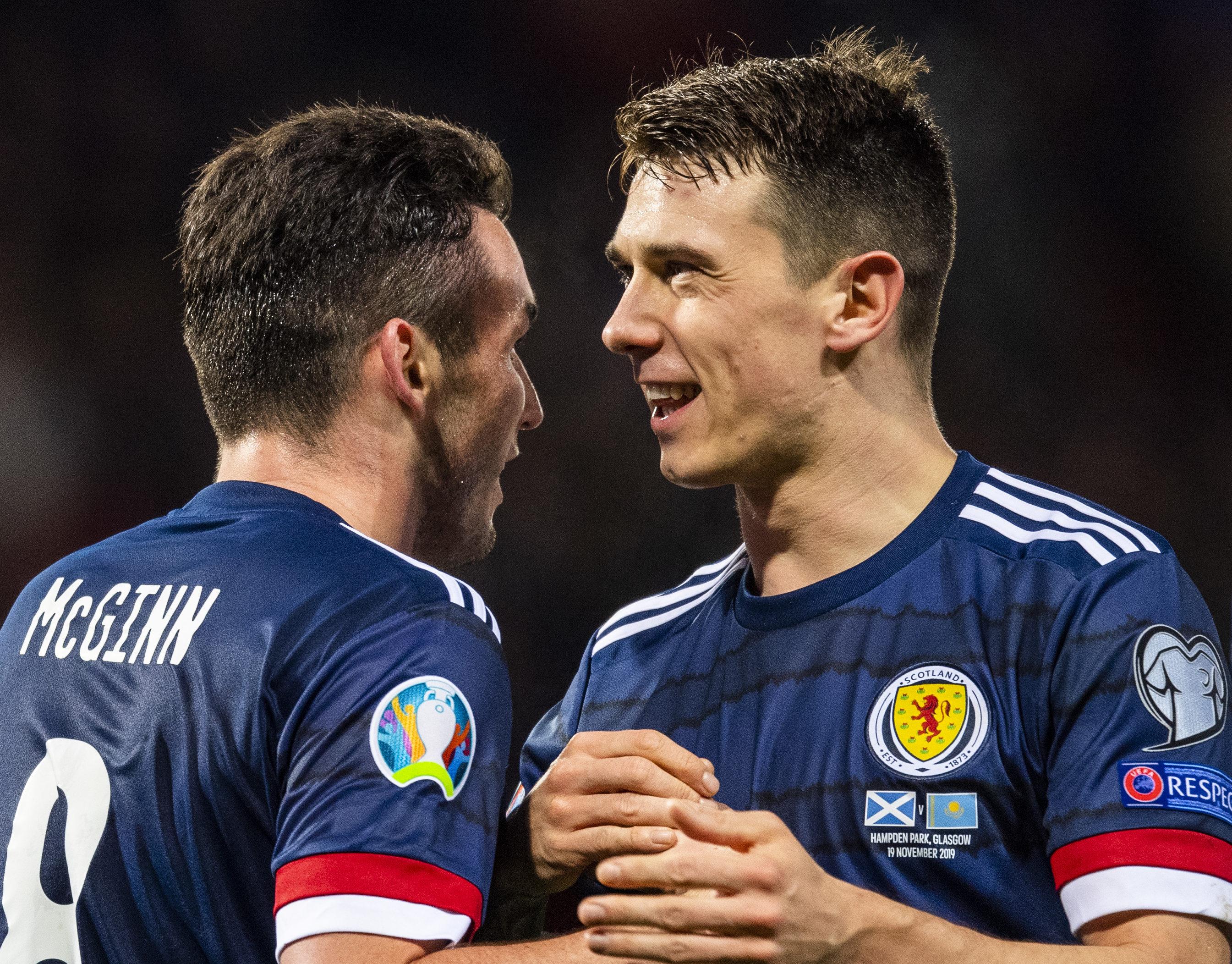 Two of Scotland's excellent midfield, John McGinn and Ryan Jack.