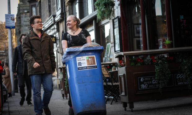 Ms Cathro with Councillor Nolan.