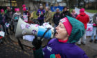 Ann Swinney, branch president of Dundee University UCU, on the picket line.