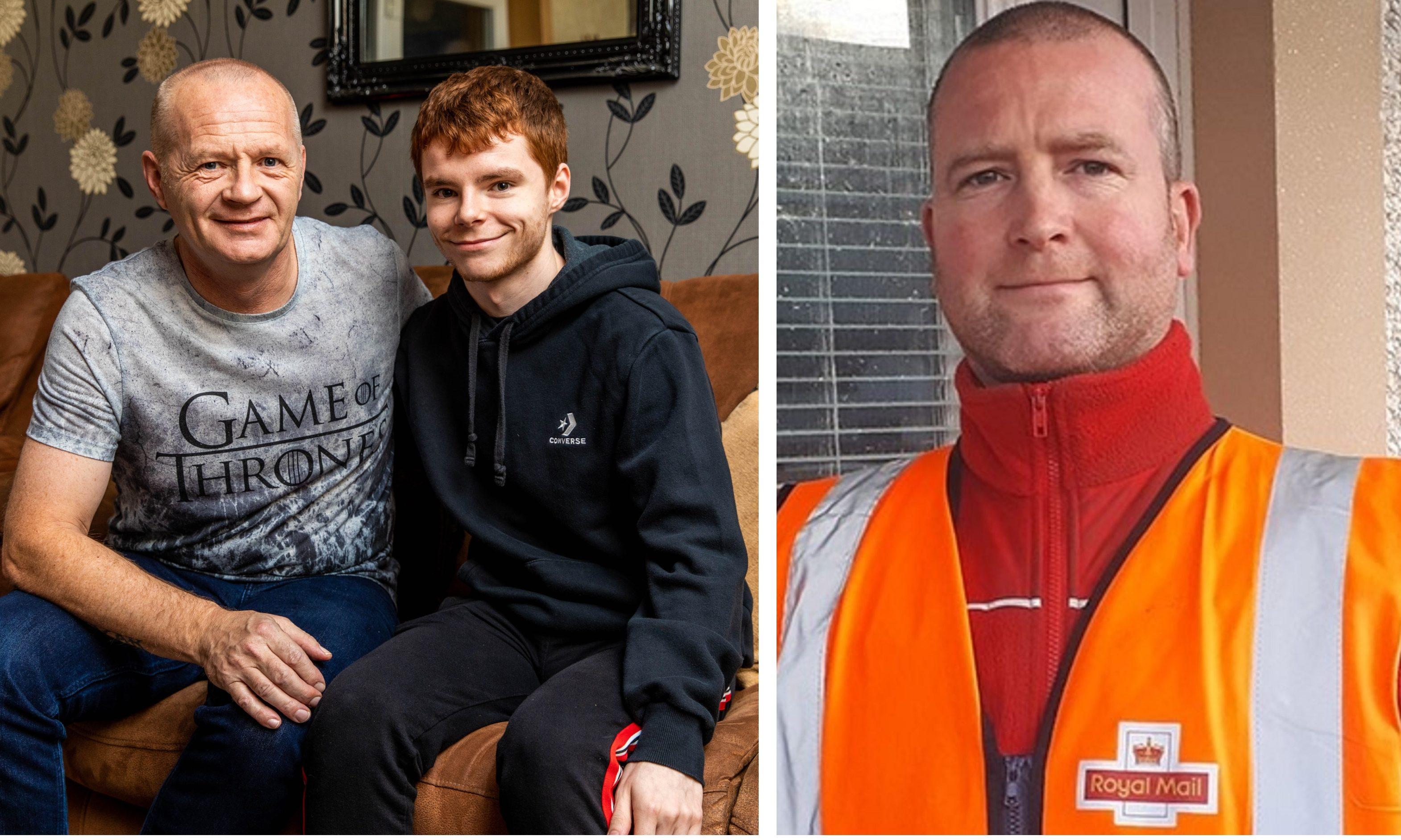 Left: Ian Wilson and his son Aaron Wilson. Right: Darren Mcleod.