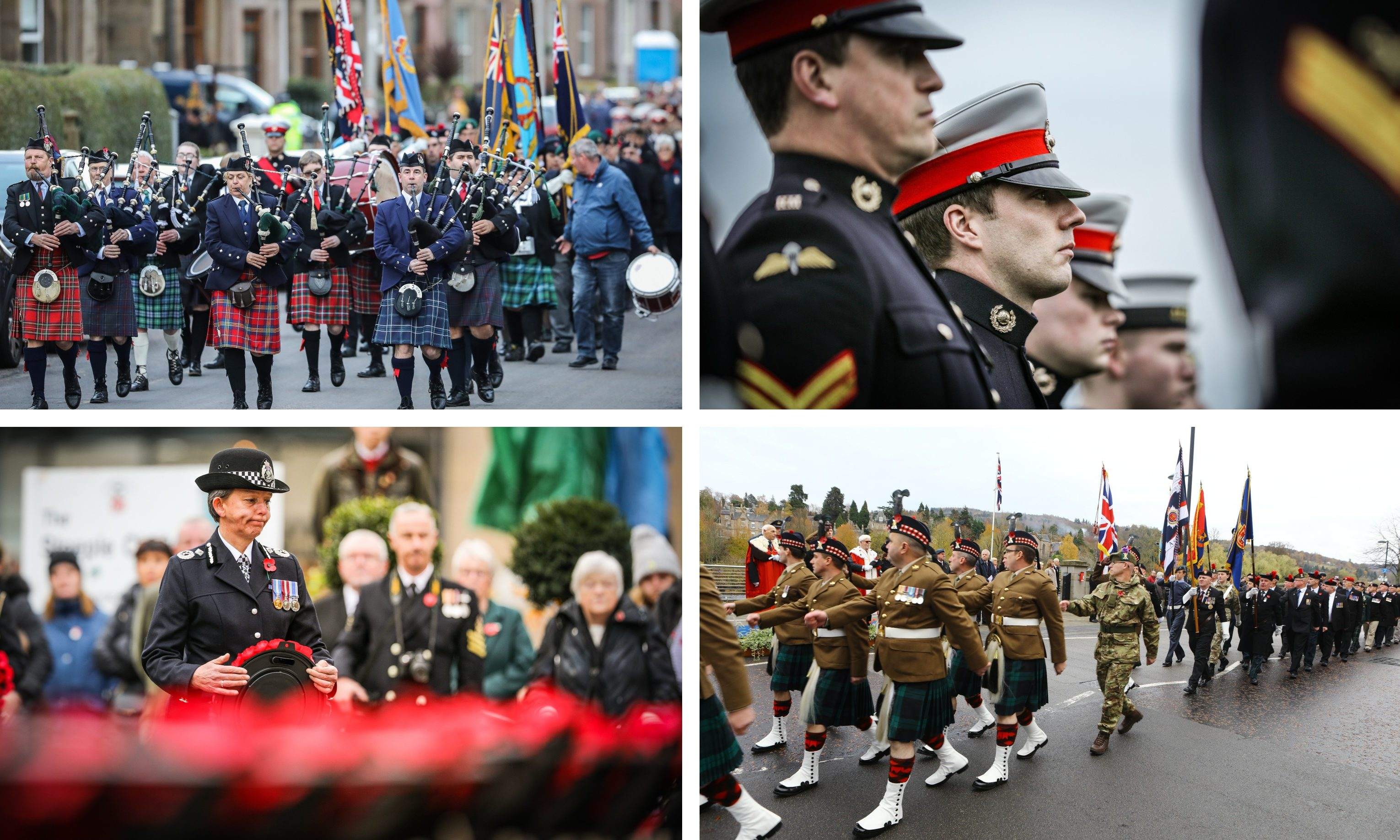 Remembrance Day services were held across Tayside and Fife.
