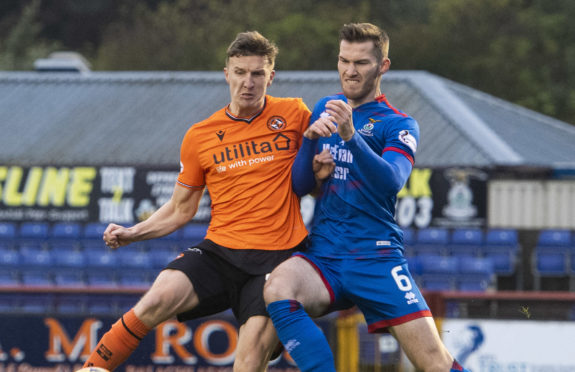 Dundee United's Paul Watson in action.