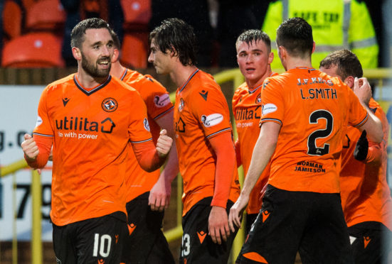 Dundee United were celebrating another win on Saturday.