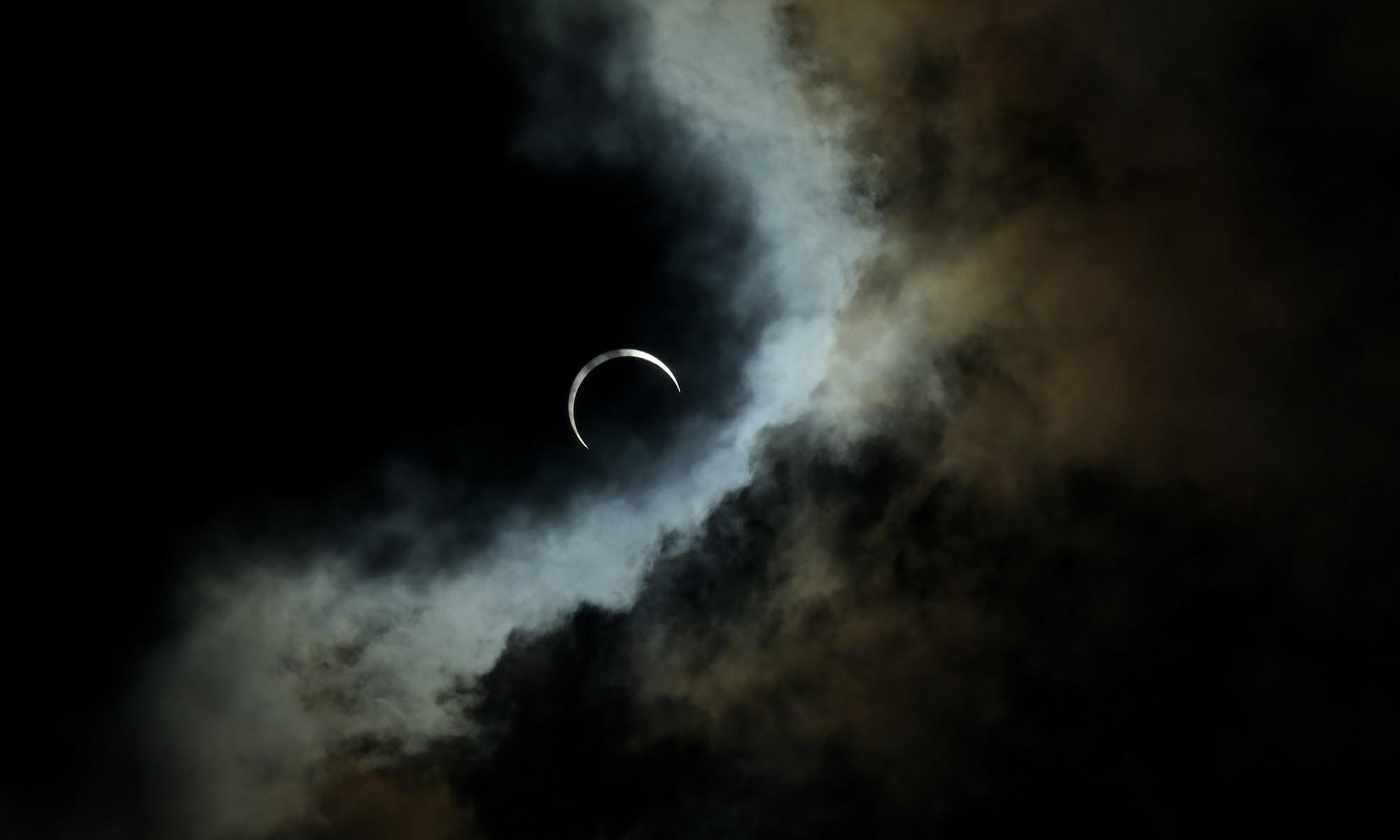 The 'ring of fire' solar eclipse.