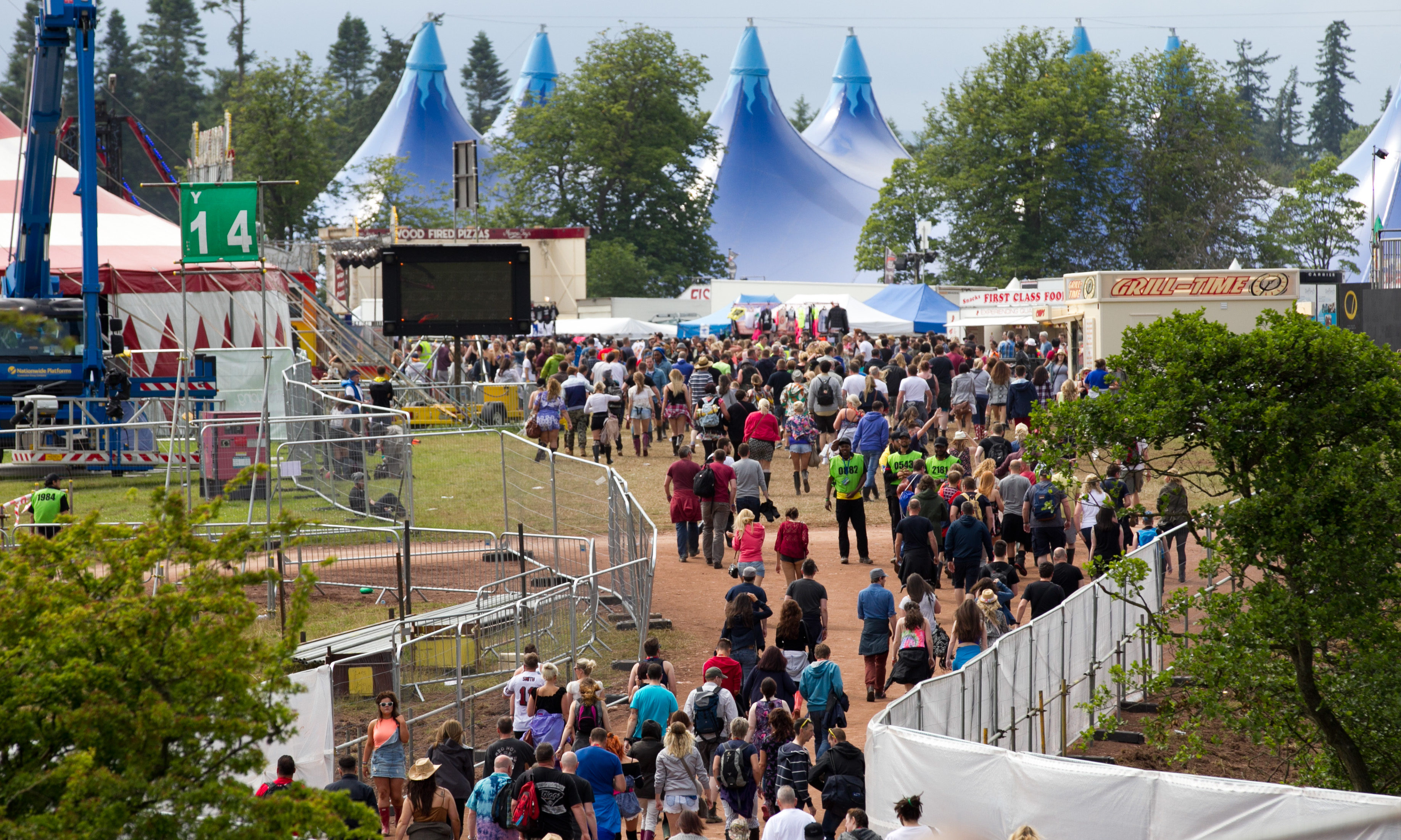 Infrastructure has been left in place after the last T in the Park festival in 2016.