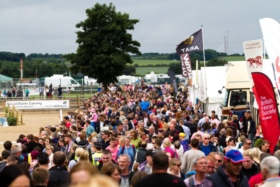 """Weekend visitor numbers have become """"challenging"""" at the Royal HIghland Show."""
